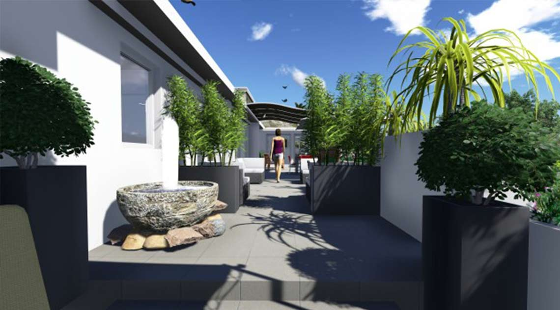 Landscaping project for Terrace in Marbella