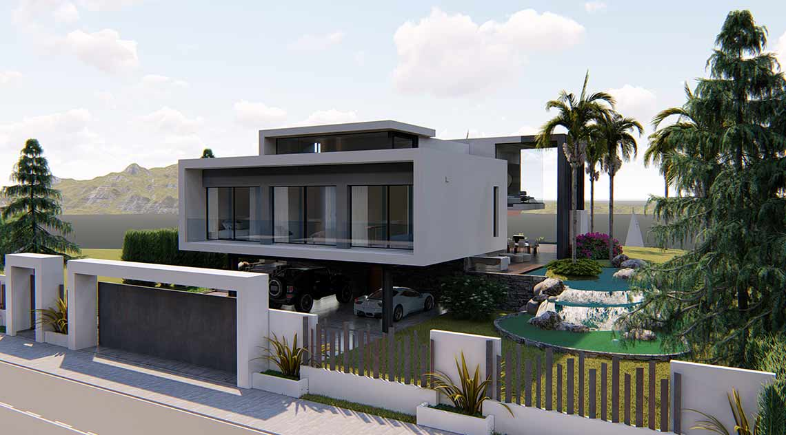 Architecture project for Villa Paraiso